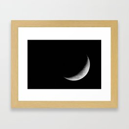 Crescent Moon Framed Art Print