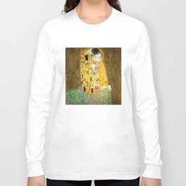 Gustav Klimt The Kiss Long Sleeve T-shirt