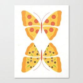 Monarch Pizza Canvas Print