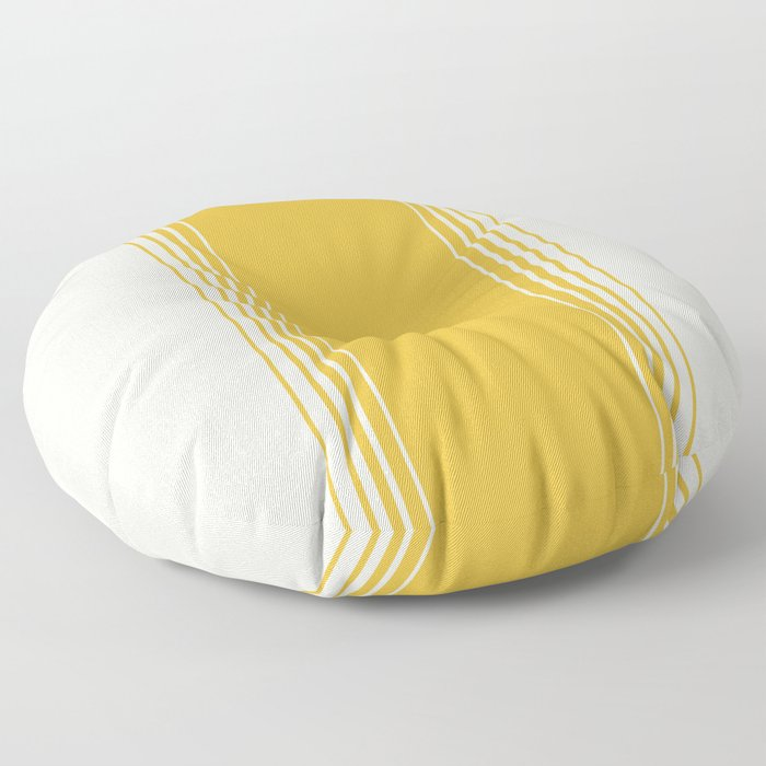Marigold & Crème Vertical Gradient Floor Pillow