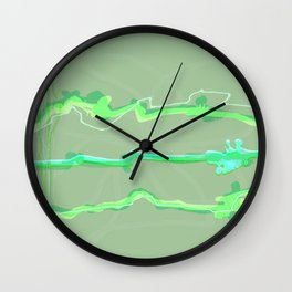 Fluffy lines twisting and turning no. 19 Wall Clock