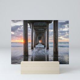 PACIFIC OCEAN SUNSET CALIFORNIA SCRIPPS PIER LA JOLLA SAN DIEGO Mini Art Print