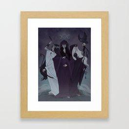Triple Goddess Framed Art Print