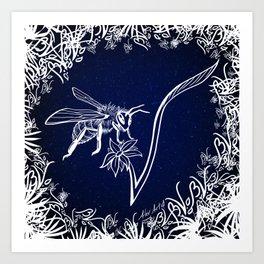 Bee Vegan Inverted Art Print