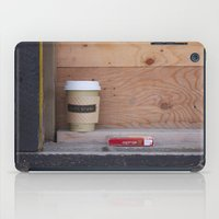 cigarettes iPad Cases featuring Cigarettes and coffee by RMK Photography