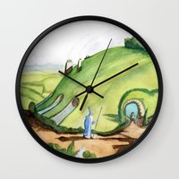 hobbit Wall Clocks featuring The Hobbit by Emily