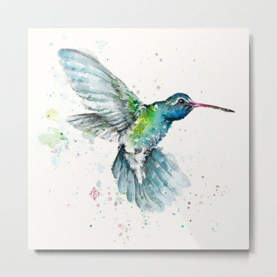 Hummingbird Flurry Metal Print