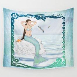 Seaside Mermaid Wall Tapestry