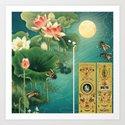 Lotus Full Moon Garden :: Fine Art Collage by jennylloyd