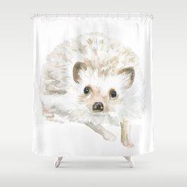 Watercolor Hedgehog Painting - Woodland Animal Art Shower Curtain