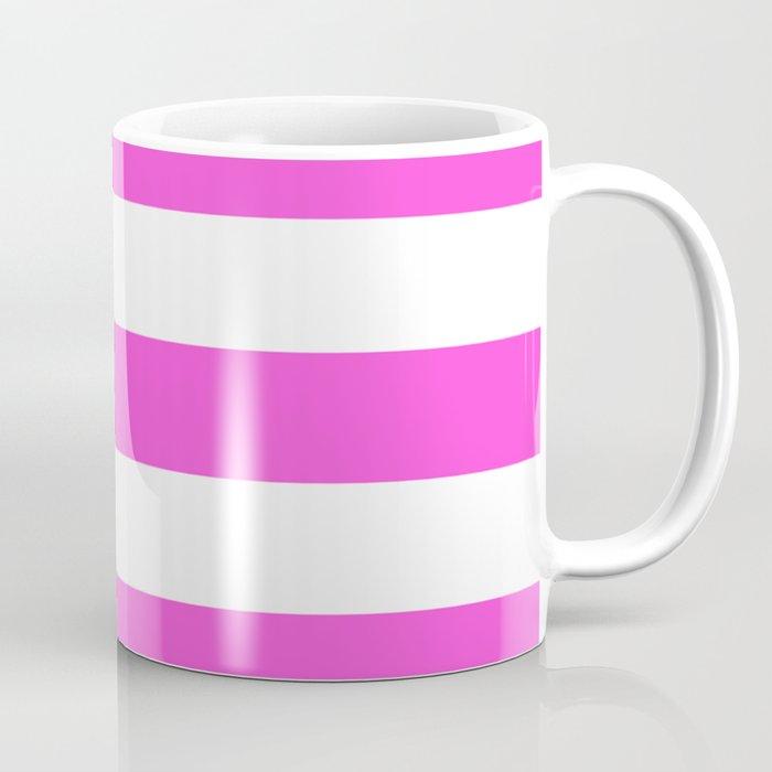 Purple pizzazz - solid color - white stripes pattern Coffee Mug
