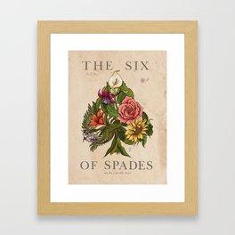 The 6 Of Spades Framed Art Print