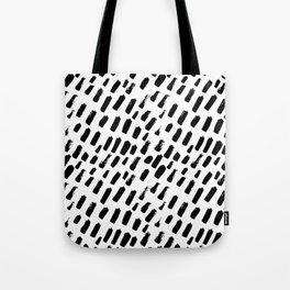 Dashing Darling - Black and White Tote Bag