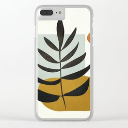 Soft Abstract Large Leaf Clear iPhone Case