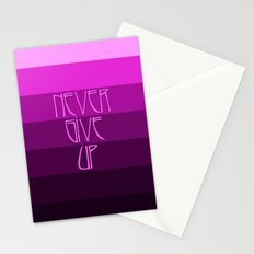 NEVER GIVE UP (Pink) Stationery Cards