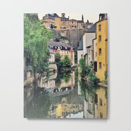 Luxembourg City, The Grund Metal Print