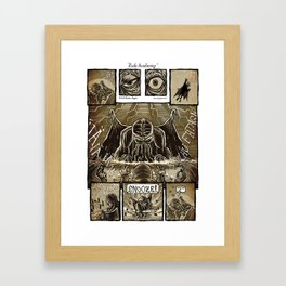 Rude Awakening Framed Art Print