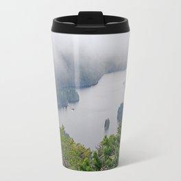 MOUNTAIN LAKE ON A MISTY DAY Travel Mug