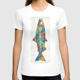 Fish Art Print - Colorful Salmon - By Sharon Cummings T-shirt
