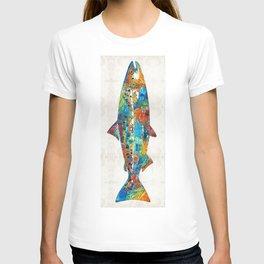Fish Art Print - Colorful Salmon - By Sharon Cummings T-shirt