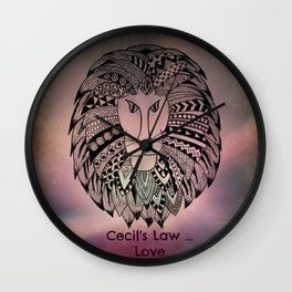 Cecil's Law Wall Clock