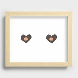 2 Hearts Recessed Framed Print