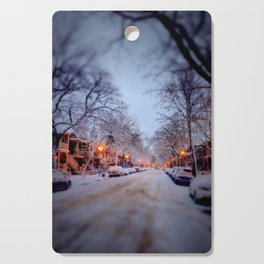 Winter scene Cutting Board