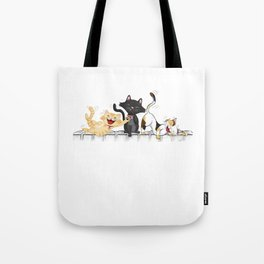 CATS DEAD OF LAUGHTER Tote Bag