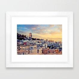 San Francisco North Beach Sunset Fine Art Print  • Travel Photography • Wall Art Framed Art Print