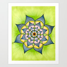 Pen and Ink Mandala Art Print