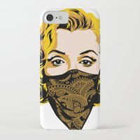gangster iPhone & iPod Cases featuring Gangster Lady by UrbanCandy