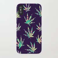 cannabis iPhone & iPod Cases featuring Merry Cannabis by GypsYonic