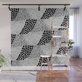 Mixed Animal Print Black and White Wall Mural