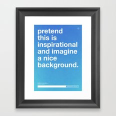 Blueprint For Success Framed Art Print
