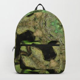 """Fuzzy Arrow Feathers"" tree stump reflection Backpack"