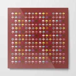 Umbrella School  Fun Pattern Metal Print