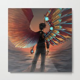 MISMATCHED WINGS Metal Print