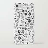 day of the dead iPhone & iPod Cases featuring Day of the dead by Farnell