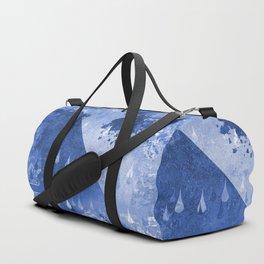 Abstract Blue Rain Drops Design Duffle Bag