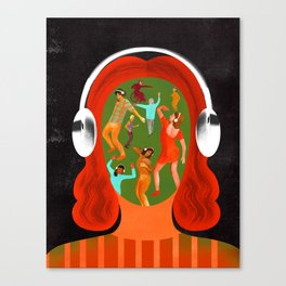 """""""When You Listen to Music, You're Never Alone"""" by Ellen Weinstein for Nautilus Canvas Print"""