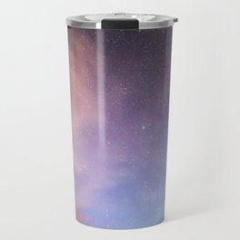 Pink Blue Glitter Galaxy Travel Mug