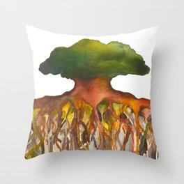 Deep Roots of Mama Tree Throw Pillow