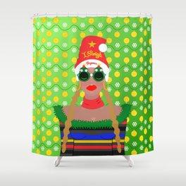 I Sleigh Shower Curtain