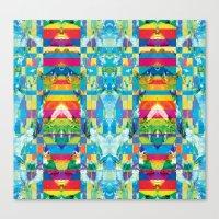 glitch Canvas Prints featuring glitch by Xenia Pirovskikh