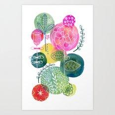 Blooming Circles Art Print