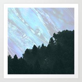Abstract Nature Mountain Art Print