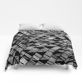 Moving Panes Black & White Comforters