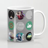 captain hook Mugs featuring Captain Swan by Your Friend Elle