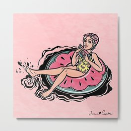 Floating Girl VII Metal Print