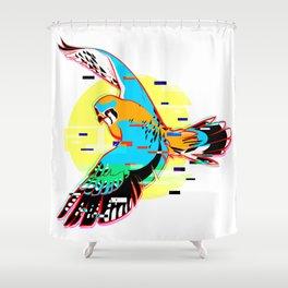 Glitch Kestrel Shower Curtain